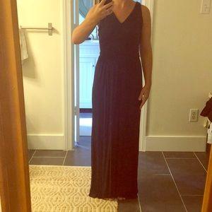 Ann Taylor Loft XSP Navy Maxi Dress